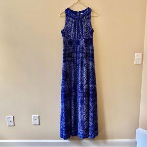 London Times blue knit maxi dress sz 8
